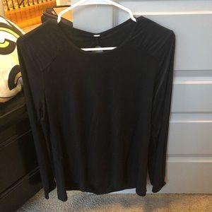 Lululemon long sleeve open back top - size 12